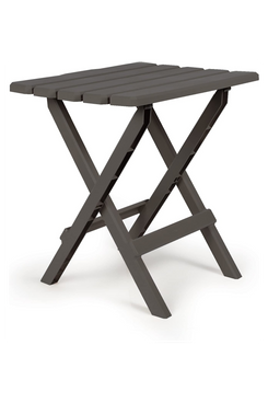 Camco 51885 Charcoal Large Adirondack Portable Outdoor Folding Side Table