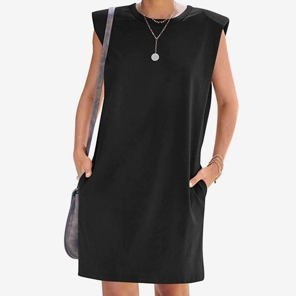 Clarisbelle Shoulder Pads Minidress With Pockets
