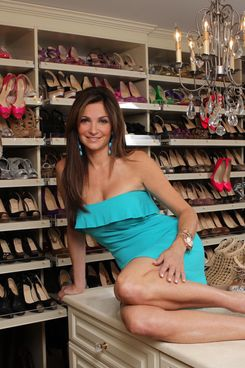 Beth Shak, in her shoe closet.