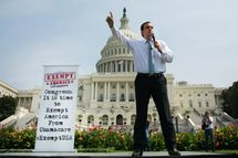 "WASHINGTON, DC - SEPTEMBER 10:  U.S. Sen. Ted Cruz (R-TX) speaks during the ""Exempt America from Obamacare"" rally,  on Capitol Hill, September 10, 2013 in Washington, DC. Some conservative lawmakers are making a push to try to defund the health care law as part of the debates over the budget and funding the federal government. (Photo by Drew Angerer/Getty Images)"