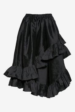 Vaquera Asymmetrical Taffeta Ruffle Skirt