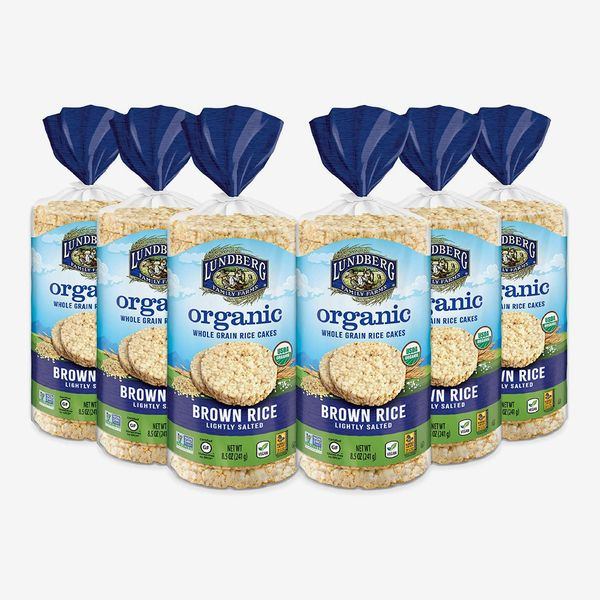 Lundberg Organic Brown Rice Cakes, Lightly Salted