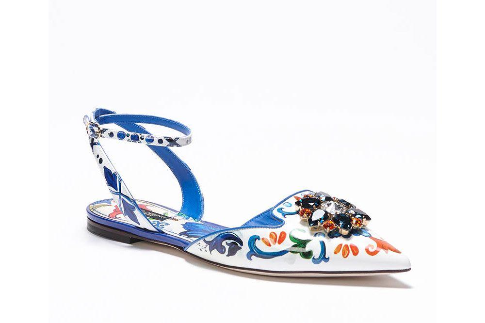 Dolce & Gabbana Mallorca print sandal