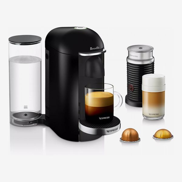 Nespresso VertuoPlus Deluxe by Breville with Aeroccino Milk Frother