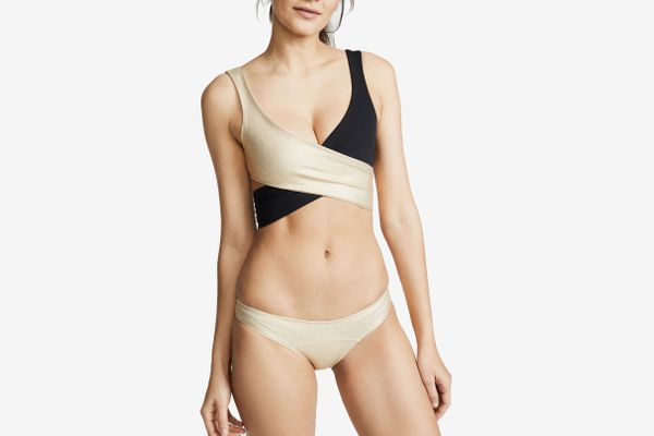 Lisa Marie Fernandez Marie Louise Crepe Bikini