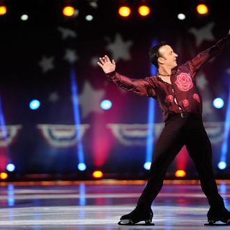 Brian Boitano skates during the P&G & Wal-Mart