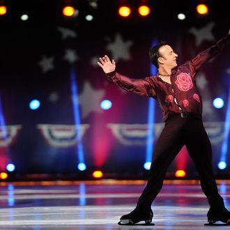 Brian Boitano skates during the P&G & Wal-Mart