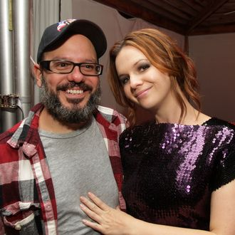NEW YORK - SEPTEMBER 09: Actors David Cross and Amber Tamblyn attend the after party for the New York premiere of