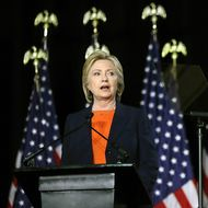 Hillary Clinton Delivers National Security Address In San Diego