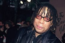 "Musician Rick James attends the 10th Annual ""Night of 100 Stars Gala"" Oscar party March 25, 2001 at the Beverly Hills Hotel in Beverly Hills, CA."