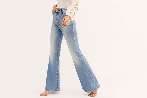 Free People Lee High-Rise Flare Jeans