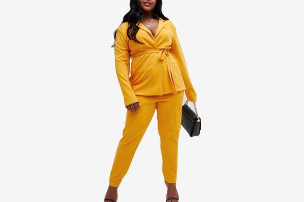 Lasula Plus Cigarette Pants in Yellow