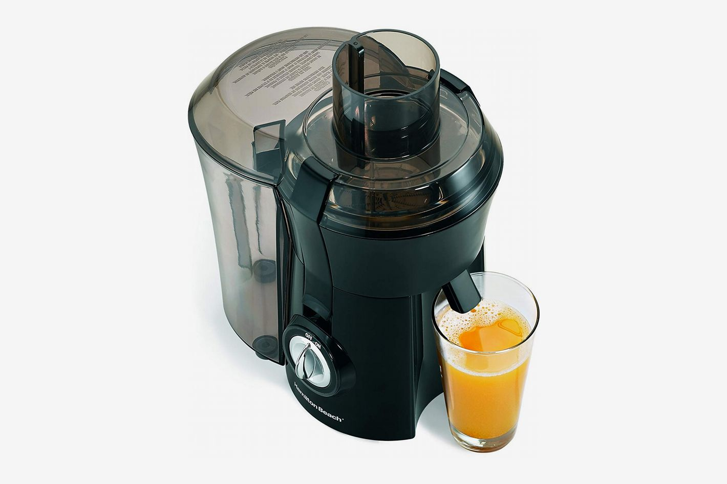 Hamilton Beach 67601A Big Mouth Juice Extractor Electric Juicer, 800 Watt, Black