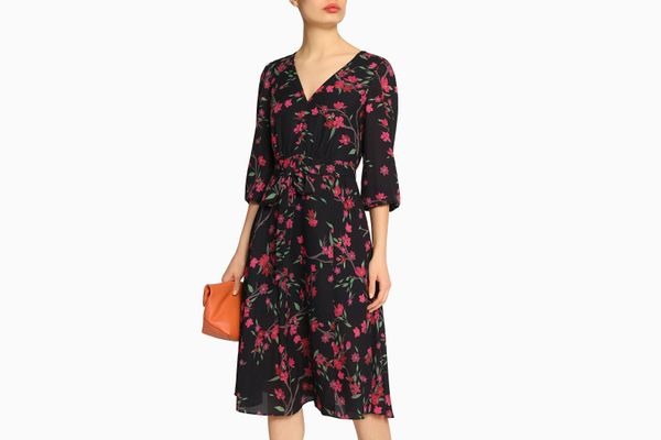 ALICE+OLIVIA Coco wrap-effect floral-print crepe de chine dress