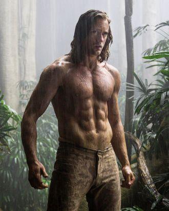 Alexander Skarsgård, real-life Tarzan.
