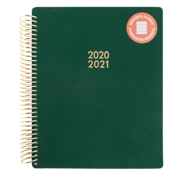 Medium Green Spiral Planner by Recollections