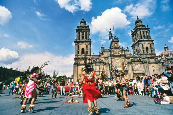 AP68CP Mexico City Zocalo Mexico. Image shot 2007. Exact date unknown.
