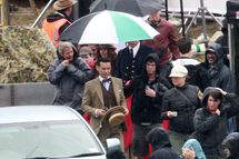 Tobey Maguire is on set of the his latest film, 'The Great Gatsby' in Sydney.<P>Pictured: Toby Maguire<P><B>Ref: SPL328358  241011  </B><BR/>Picture by: Blue Wasp/Grey Wasp/Splash News<BR/></P><P><B>Splash News and Pictures</B><BR/>Los Angeles:	310-821-2666<BR/>New York:	212-619-2666<BR/>London:	870-934-2666<BR/>photodesk@splashnews.com<BR/></P>