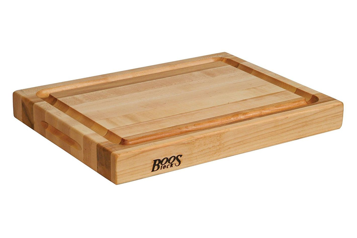 John Boos RA02-GRV Maple Wood Edge Grain Reversible Cutting Board With Juice Moat