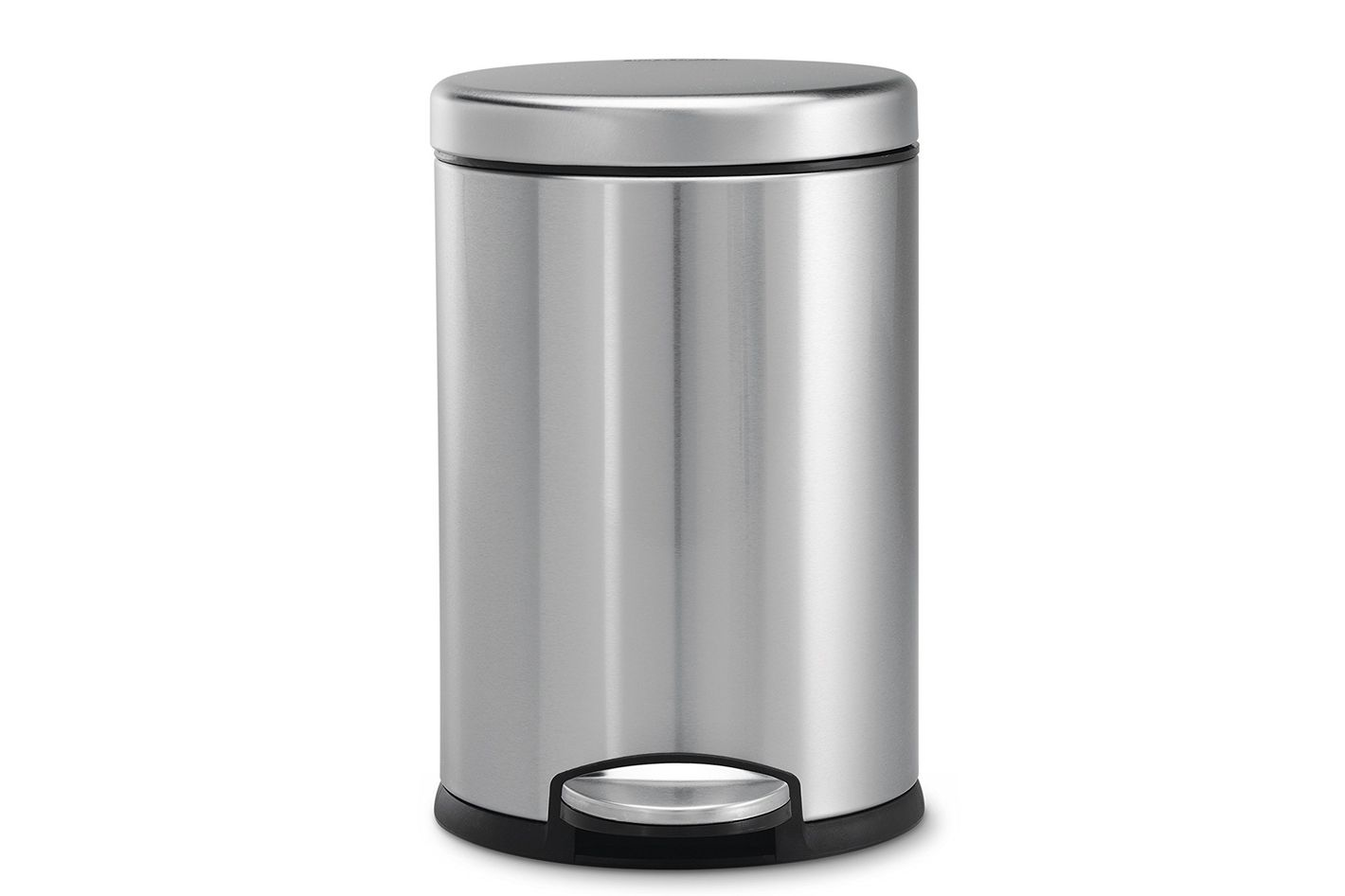 Simplehuman Mini Round Step Trash Can, Stainless Steel, 1.2-Gallon