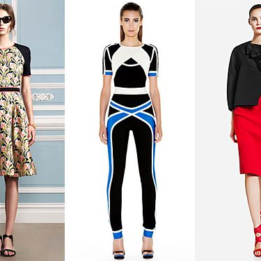From left: new resort looks from Jason Wu, Hervé Léger, and Donna Karan.
