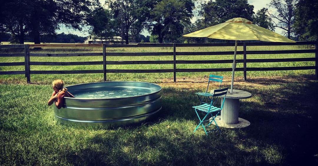 What are stock tank pools and how do i make one for How to make a pool out of a stock tank