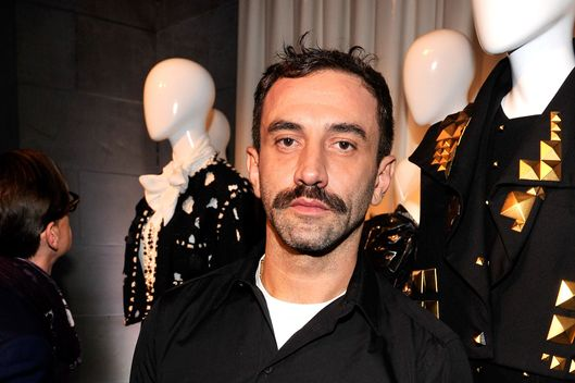 Designer Riccardo Tisci attends the PUNK: Chaos To Couture Press Preview at Metropolitan Museum of Art on February 11, 2013 in New York City.