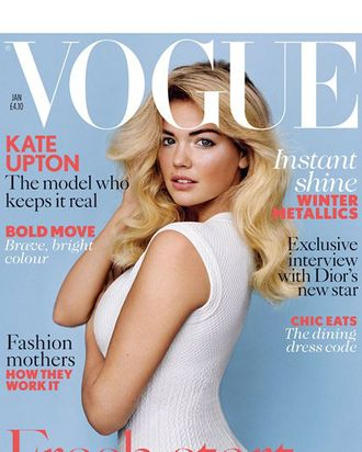 Kate Upton's debut British Vogue cover.