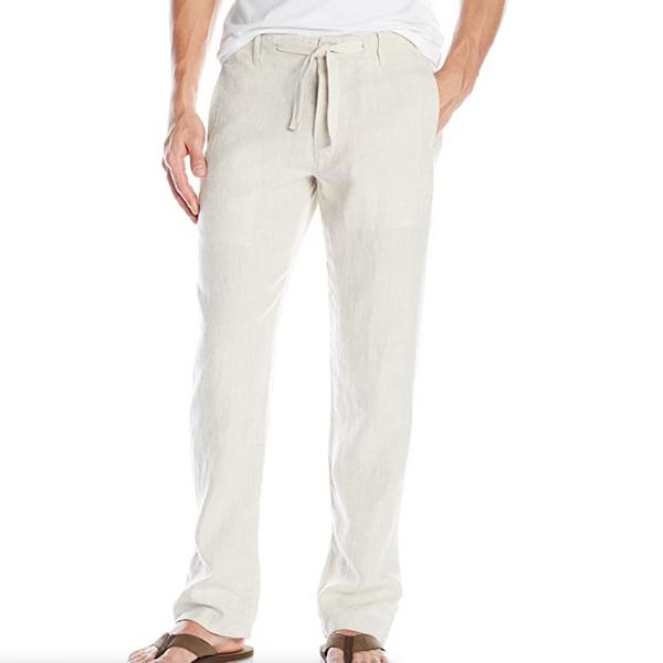 Perry Ellis Drawstring Linen Pant