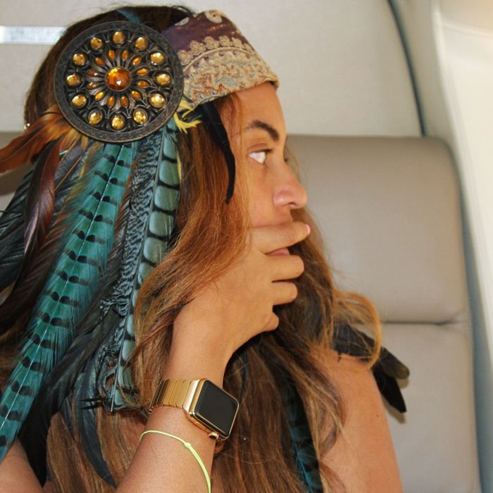 Beyoncé watch, in situ.