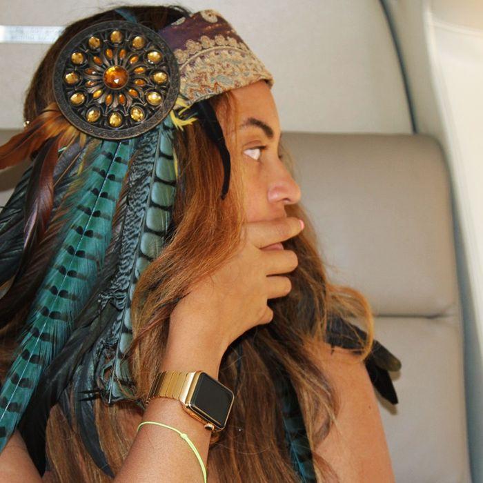Beyoncé watch, in situ.