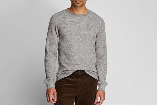 Uniqlo Men's Waffle Crew Long-Sleeve T-Shirt