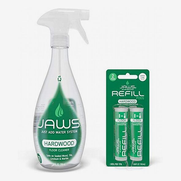JAWS Hardwood Floor Cleaner Bottle With 2 Refill Pods