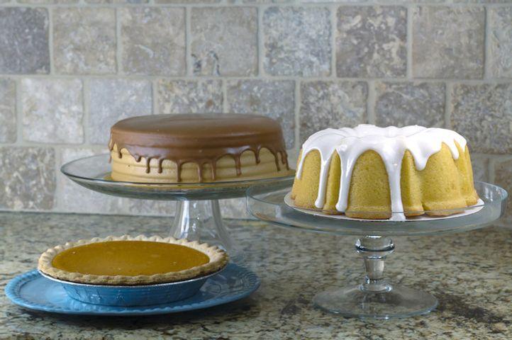 The three desserts, in all their splendor.