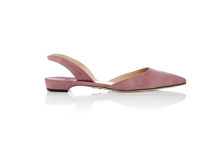 80f3aa281 These pretty pink slingback flats would look amazing peeking out of a  black-tie gown.