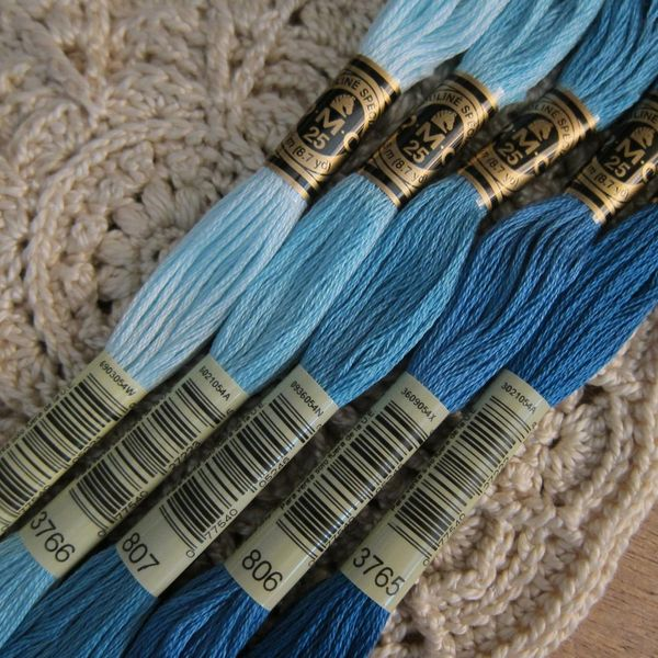 DMC Cotton Embroidery Floss - 5 Skeins