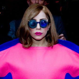 PARIS, FRANCE - SEPTEMBER 22: Singer Lady Gaga is seen leaving the 'Park Hyatt Paris Vendome' hotel on September 22, 2012 in Paris, France. (Photo by Marc Piasecki/FilmMagic)