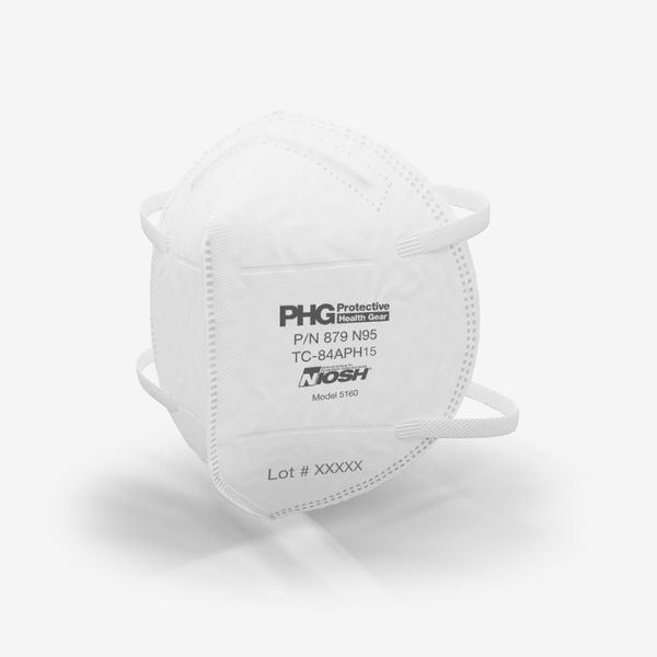 Protective Health Gear N95 Model 5160 Disposable Particulate Respirator
