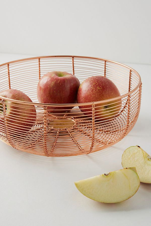 Copper Wired Fruit Bowl