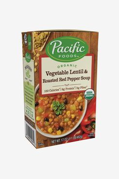 Pacific Foods Organic Vegetable Lentil & Roasted-Red-Pepper Soup