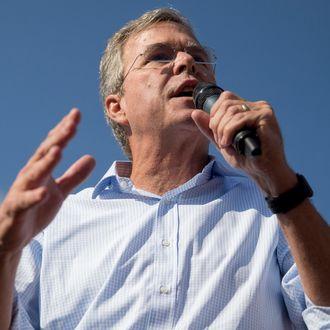 Jeb Bush Speaks At Iowa State Fair Soapbox