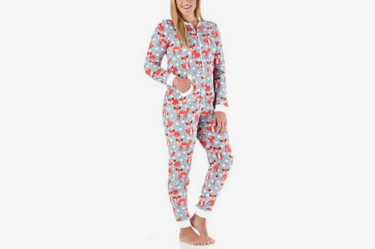 PajamaMania Women's Sleepwear Plush Fleece Non-Footed Onesie