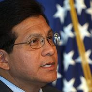 NEW ORLEANS - AUGUST 28:    U.S. Attourney General Alberto Gonzales speaks at the dedication of the New Orleans Family Justice Center on August 28, 2007 in New Orleans, Louisiana. Gonzales announced his resignation as AG yesterday after months of withering criticism over his role in the firing of eight U.S. attorneys in 2006.  (Photo by Chris Graythen/Getty Images) *** Local Caption *** Alberto Gonzales