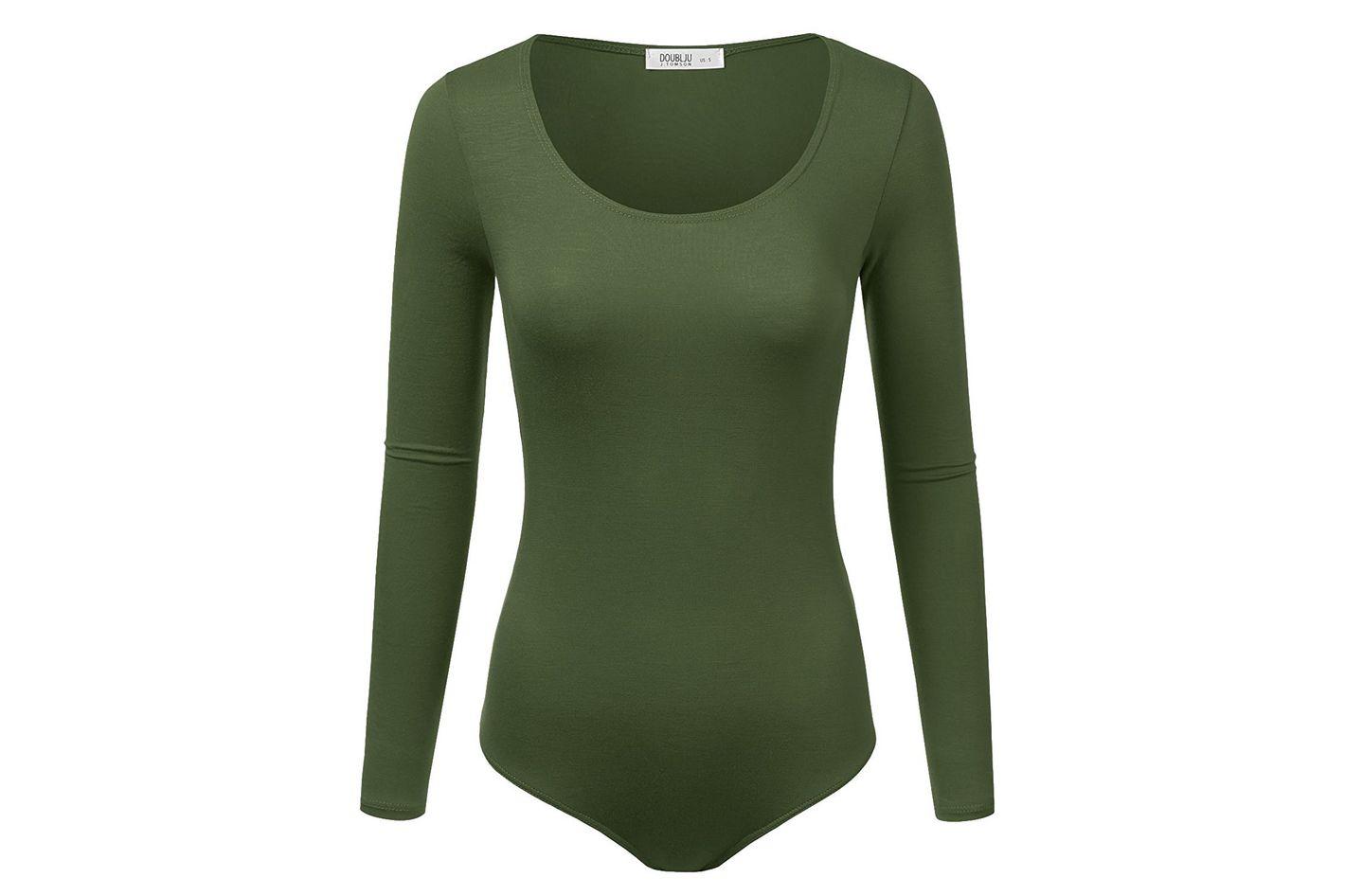 Doublju Stretchy Scoopneck Bodysuit