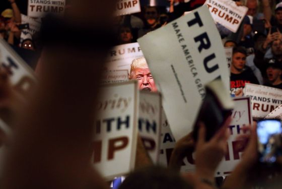 Donald Trump Holds Campaign Rally In Anaheim, CA