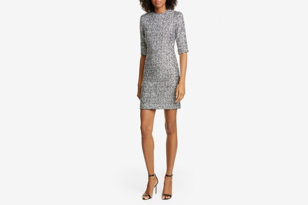 Alice and Olivia Inka Sequin Mock Neck Dress