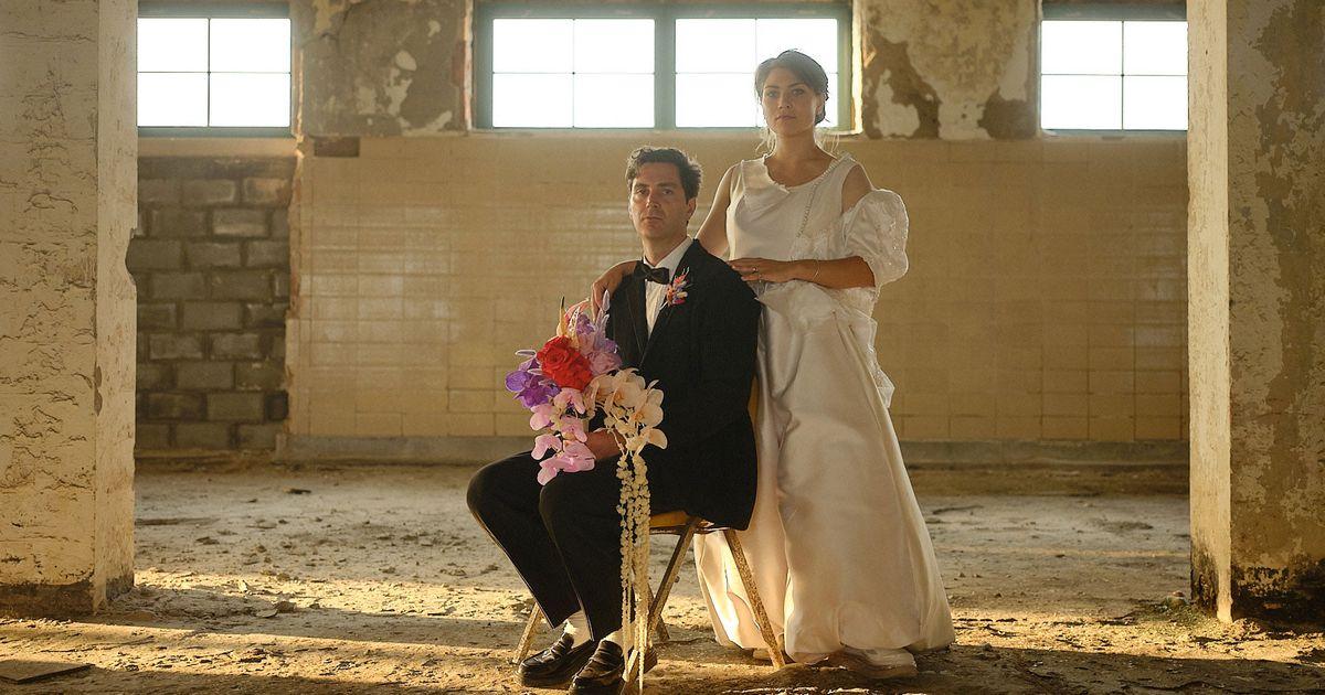 The Bride Wore An Interactive Art Piece As Her Wedding Dress
