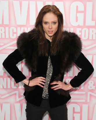 Coco Rocha attends the MAC Cosmetics Viva Glam Party at Stage 37 on February 15, 2012 in New York City