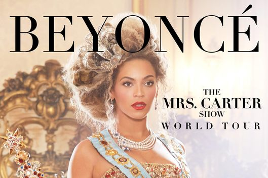 The Mrs. Carter Show World Tour poster starring Beyonce Knowles.