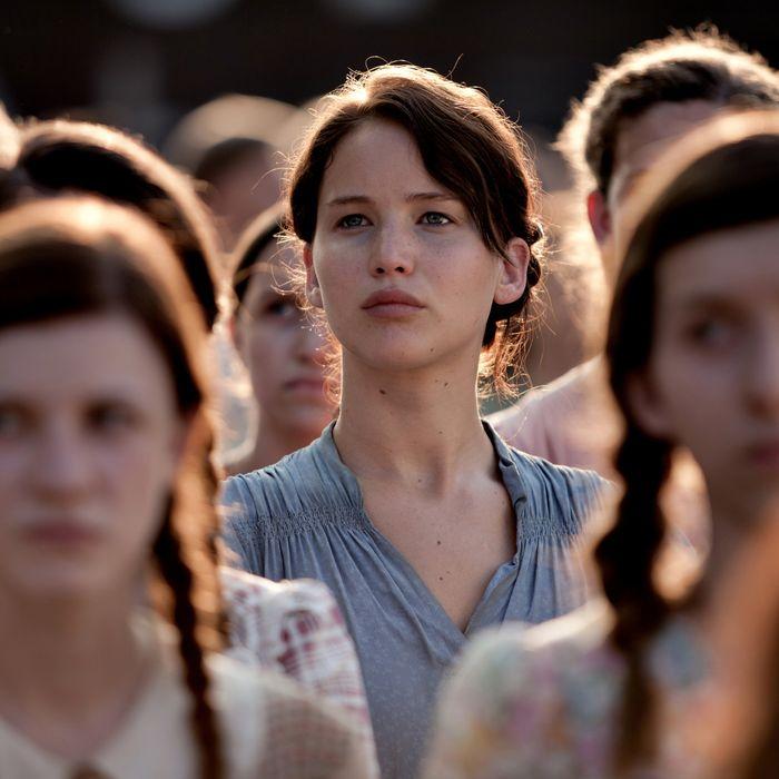 Jennifer Lawrence stars as 'Katniss Everdeen' in THE HUNGER GAMES.